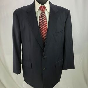 Brooks Brothers Men's Blue Wool Blazer 45R